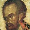 Иконостас Благовещенского собора Московского кремля. Иоанн Златоуст. Деталь. 1405. Феофан Грек.jpg